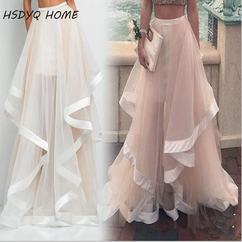 HSDYQ HOME Only skirt 2016 New arrival Two lays Prom Dress pants Formal Gowns pants Pageant Dress Flounced Skirt Tulle