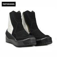 Корейский стиль новинка зимы модные брендовые Одежда высшего качества Пояса из натуральной кожи Мужские ботинки мужские Обувь на молнии об