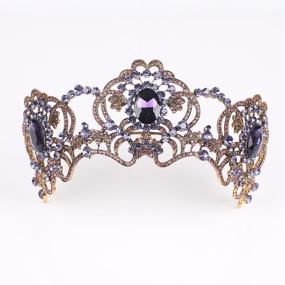 Exquisite Amethyst Crown Headband Bridal Crown Headwear Bridal Wedding Accessories Crown Hair Accessories Wedding Accessories