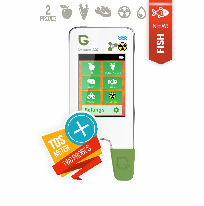 GREENTEST ECO 5 NEW! High Accuracy Food, Meat, Fish Nitrate Tester, water TDS, Radiation Detector Meter