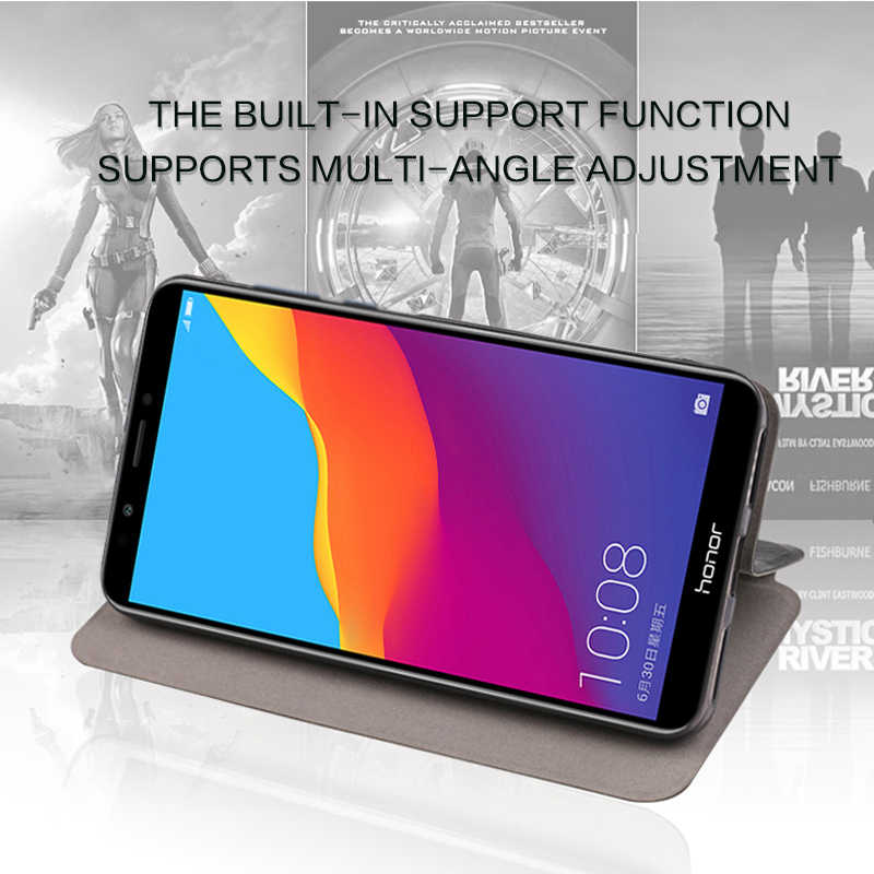 MOFI For Huawei Honor 7C Case Cover Flip PU leather + TPU Silicone Phone Case for Huawei Enjoy 8 Cover Shockproof Protective