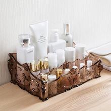 Makeup Organizer for Cosmetics Storage Box Rack Make Up transparent Boxes lipstick nail polish brush holder for  dressing table