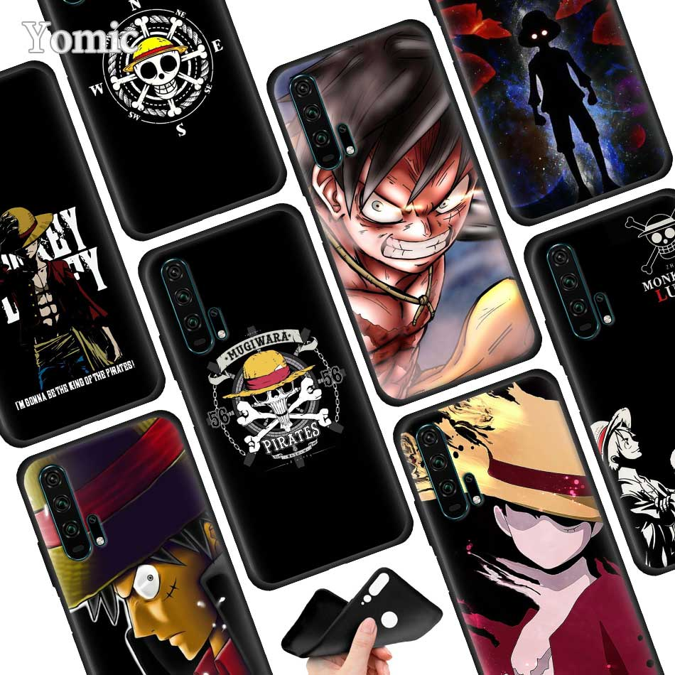 Japanese anime collage one piece luffy Back Silicone Case for Huawei P30 P20 Pro P9 P10 P20 P30 Lite P Smart Plus Mate 10 20 Pro in Fitted Cases from Cellphones Telecommunications