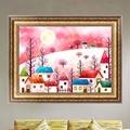 DIY 5D Diamond Cartoon House Painting Cross Stitch Embroidery Home Decor Craft