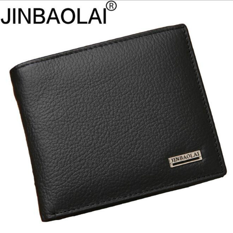 Mens Wallet Purses Short Premium-Product Portefeuille Black Real-Cowhide 100%Genuine-Leather