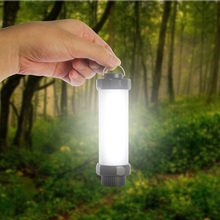 Strong Magnet Rechargeable Camping Light 18650 Battery USB Outdoor Portable Lantern Bar Hanging Tent