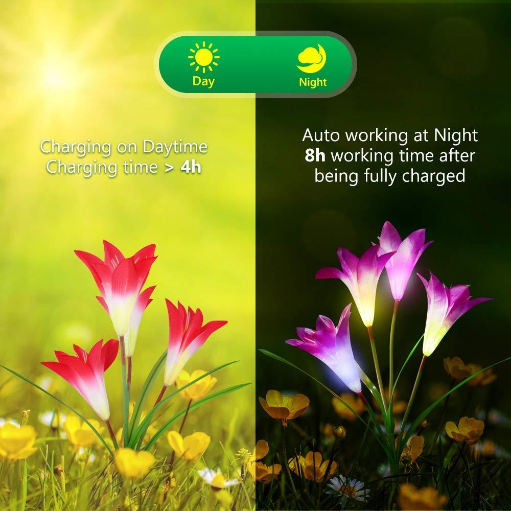 luzes solares da estaca do jardim ao 02