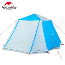 лучшая цена Naturehike 4-6 Person Automatic Tent Waterproof Double layer Large Family Camping Tent For Outdoor Recreation NH18Z050-P