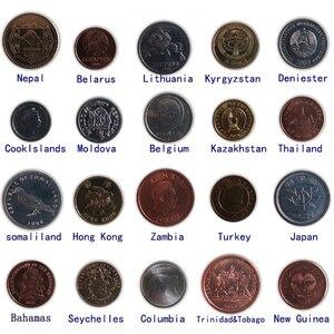 60 монет из разных стран, НАСТОЯЩИЕ Оригинальные монеты, коллекционные монеты для стран Европы, Азии, Африки, Америки, коллекционный подарок