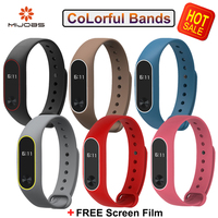 Original Mijobs Mi Band 2 Straps Bracelet For Xiaomi  Mi Band 2 Wristband Strap Replacement  Colorful Silicone  Accessories
