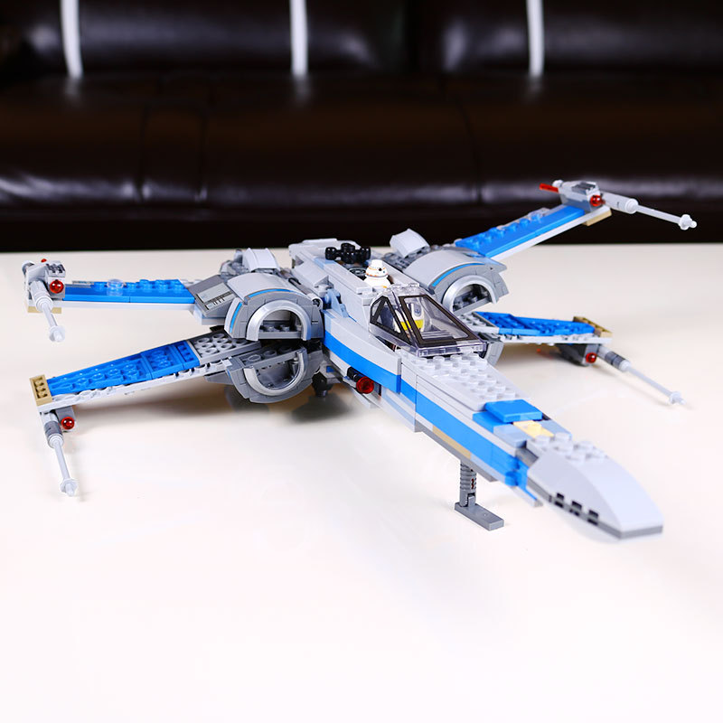 New Compatible Star Wars First Order Poes X-wing Fighter building blocks X wing Star wars Toys For Children gift drop shipping ...