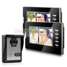 DIYSECUR 7″ Wired Video Door Intercom Vandalproof Camera 600TVL Night View Unlocking 1V2