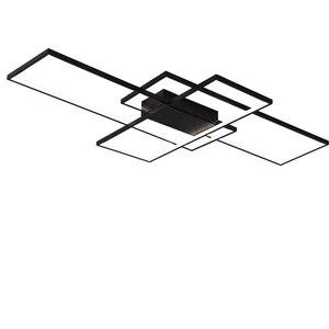 Image 5 - Neo gleam luminária led retangular de alumínio, moderna, para sala de estar, quarto, AC85 265V branco/preto, luminárias para teto