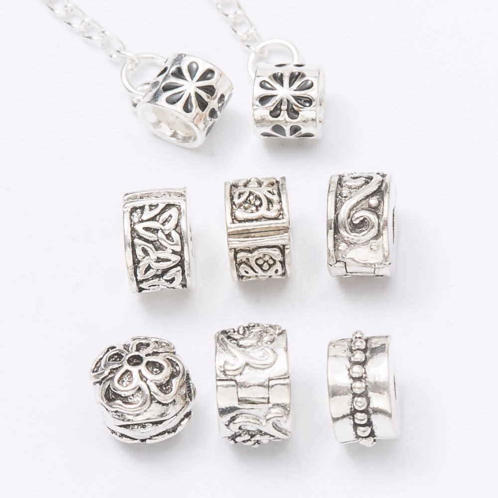 Safety Stopper Beads Fit pandora Charms Bracelets Silver Plated Flower Bead Clip DIY Jewelry High Quality Free Shipping js696