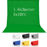 1 6X3m 5x10FT Photography Studio Green Screen Chroma Key Background Backdrop For Studio Photo Lighting Non