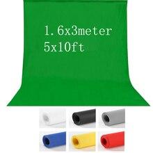 1.6X3 m fotografia fotografia de estúdio Fundo Chroma key Fundo De Tela Verde para Estúdio iluminação Foto Não Tecido 7 cores