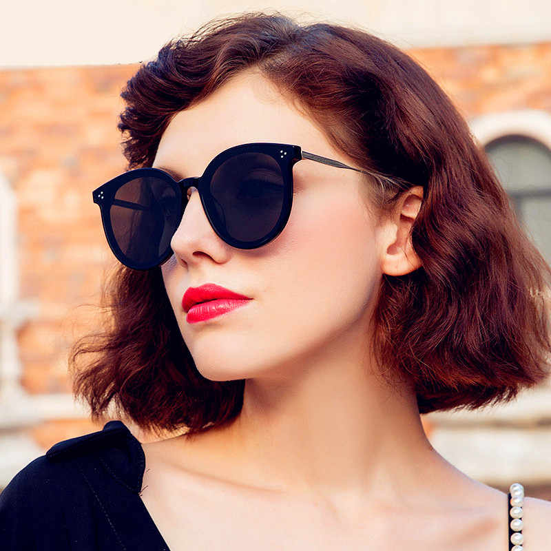 ef1c55e32a CURTAIN Lunette De Soleil Femme 2019 New Retro Cat Eye Sunglasses Women  Mirror Sun Glasses Fashion