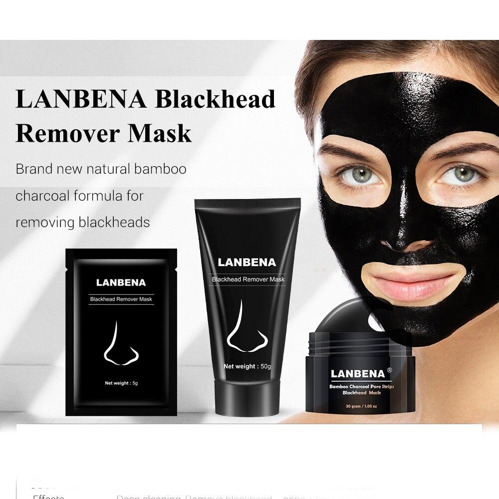 LANBENA Blackhead Remover Nose Black Mask Face Care Mud Acne Treatment Peel Off Mask Pore Strip Skin Care Peel Mask @
