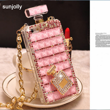 Sunjolly Chain Diamond Case Rhinestone Bling Phone Cover coque for Samsung Galaxy S8/ S8 Plus S7 S6 Edge Plus S5 S4 Note 8 5 4