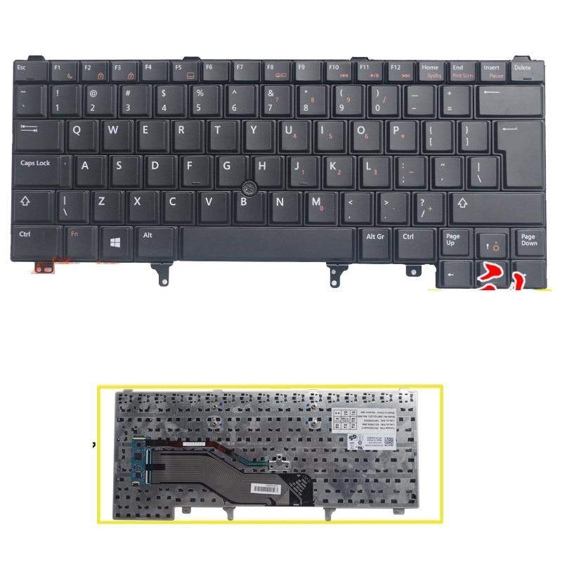 UI Keyboard With Mouse rod For DELL E6420 E5420 E5430 E6220 E6320 E6330 laptop English Without backlight