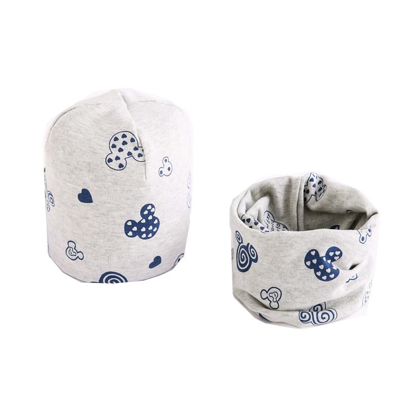 Cotton Plush Girls Hat Scarf Set Cartoon Sheep Owl Stars Baby Boys Hat Winter Children Hats Scarf-Collar Set Cotton Kids Hat Set