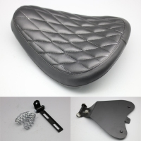 NEW Motorcycle Seat Baseplate Vintage BLACK Spring Bracket Solo Seat Cushion For Harley Sportster Softail Dyna Softail Fat Bob