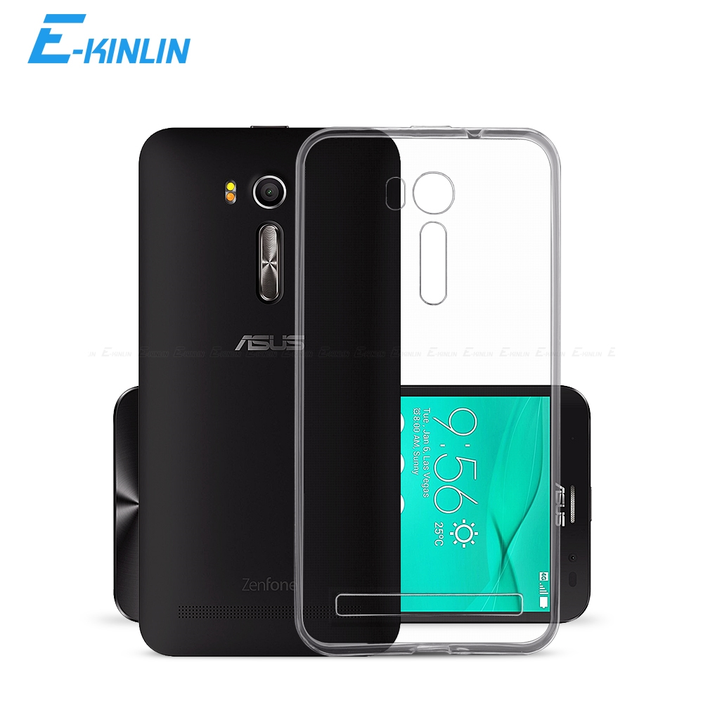 Clear Crystal Soft Silicone TPU Back Cover Phone Case For Asus ZenFone 3 GO TV ZB452KG G550KL ZB450KL ZB501KL ZB551KL(China)