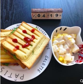 Electric Egg Sandwich Maker Mini Grilling Panini Baking Plates Toaster Multifunction Non-Stick waffle Breakfast Machine EU 4