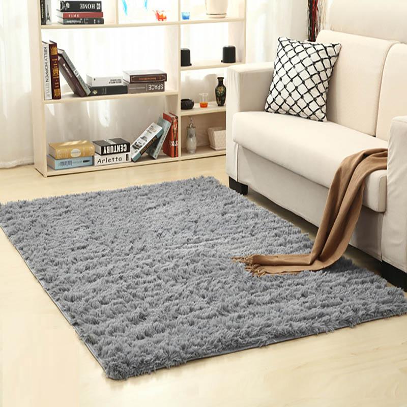 venta caliente alfombra resistente a la suciedad negro alfombra alfombras de piso dormitorio decoracin suave