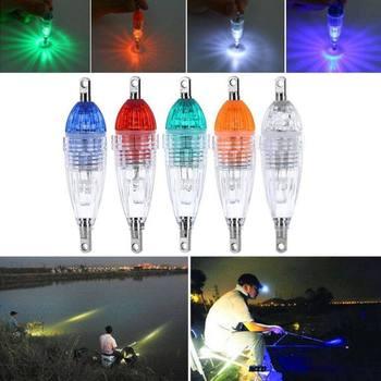 LED Flashing Mini Deep Drop Underwater Lights Fishing Squid Fish Lure Light Green Lamp Night Fish Lights 2020 New