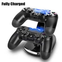 Really high quality Dual USB ps4 controller charger Dock Gaming Controller Stand for Sony Play Station 4 PS4 Jogos Accessories(China)
