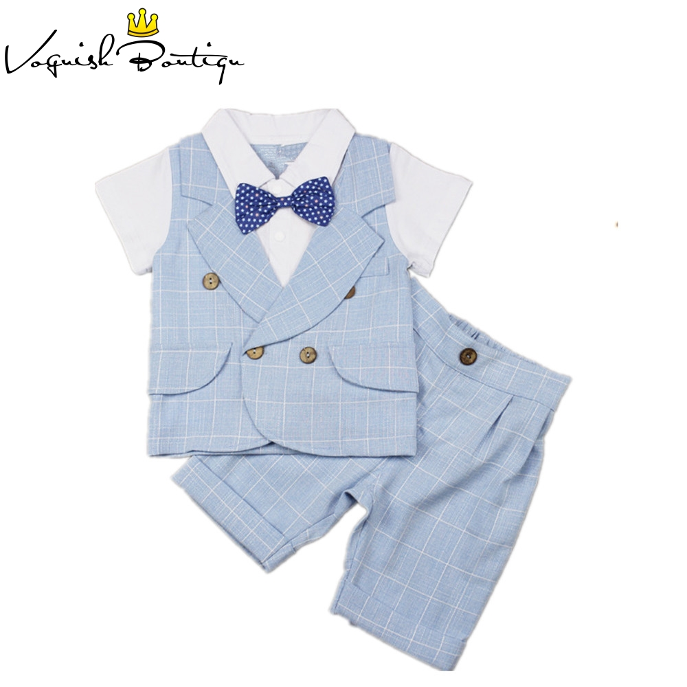 Baby boys clothes gentleman baby short sleve suit with shorts free bow fashion newborn kids clothes fever short gloves with bow красные короткие перчатки