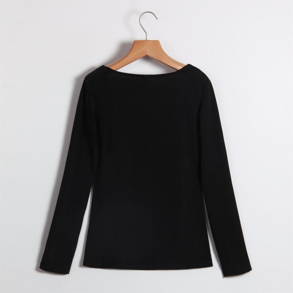 HTB1OsYHMVXXXXbrXXXXq6xXFXXX6 - Autumn T Shirt Women Long Sleeve Slim Fit Solid