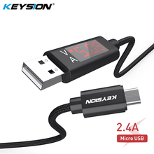 US $3.99 30% OFF|KEYSION 2.4A LED Digital Micro USB Cable For Xiaomi Huawei Samsung OPPO Voltage Current Display Charger Data Braided Phone Cable-in Mobile Phone Cables from Cellphones & Telecommunications on Aliexpress.com | Alibaba Group