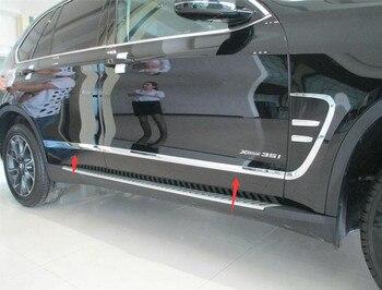สไตล์รถเอบีเอสด้านข้างประตูร่างกายพลาสติกครอบตัดสำหรับสำหรับBMW F15 X5 2014-2016