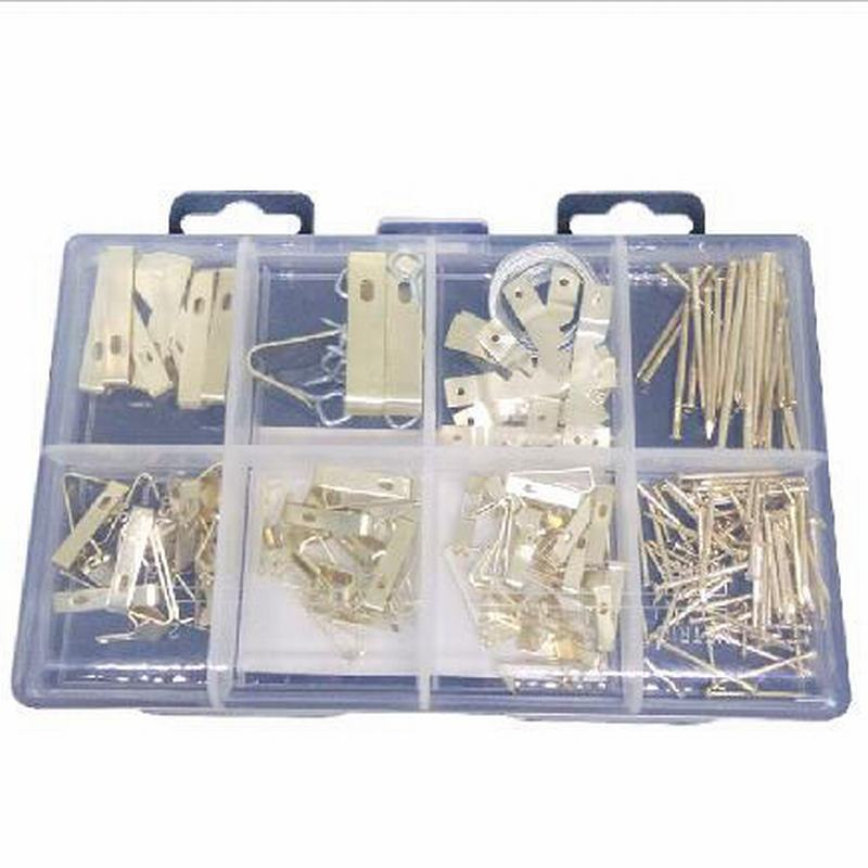 200Pcs Hanging Picture Frame Nail Hardware Set Screw Set Precision Hardware Accessories Kit Set For Home Carpentry fixmee 50pcs white plastic invisible wall mount photo picture frame nail hook hanger