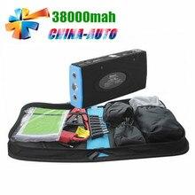 Más nueva Batería 38000 mAh Car Jump Arranque Mini Banco de Energía Portátil 12 V Cargador para el Coche de Gasolina y Diesel