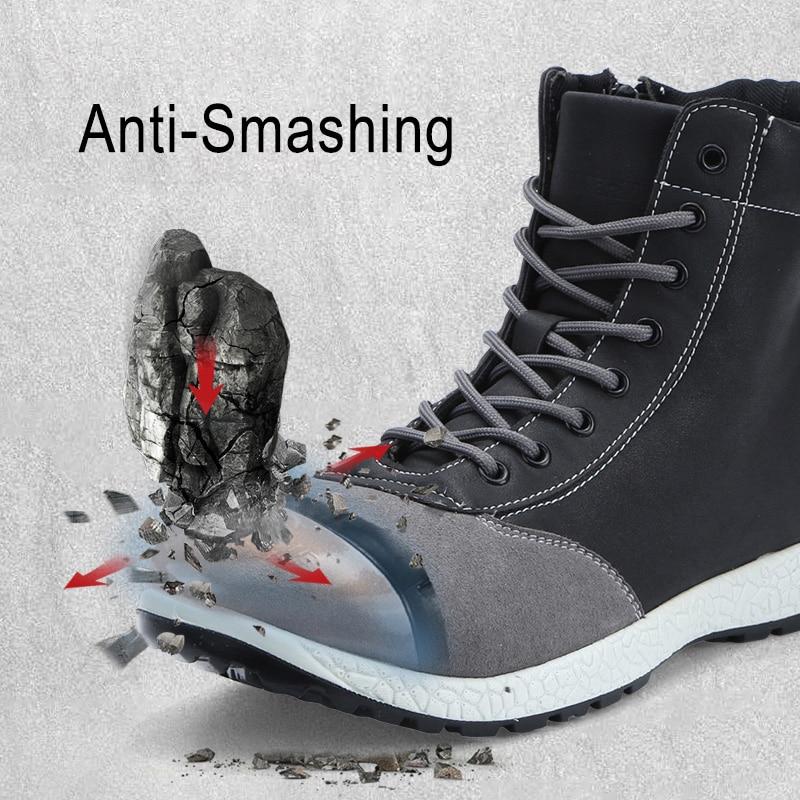 Larnmern mens 안전 부츠 신발 강철 발가락 작업 안전 신발 s1p 보호 학년 건설 발목 부츠 보안 신발-에서작업 & 안전 부츠부터 신발 의  그룹 2