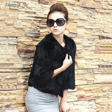 Daisy Na Women New Black Outerwear Coat Shaggy Jacket Long Hair Waistcoat Faxu Fur 017