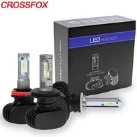 CROSSFOX Car Bulb 9004 9007 H13 H1 H3 H11 9005 9006 880 881 H27 H4 LED