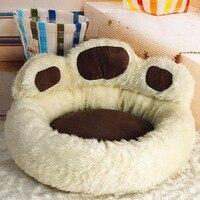 creative Bear Footprint Washable Small Medium Large Luxury Dog Bed Kennel Cozy Soft Warm Pet Puppy Cat Dog House Nest