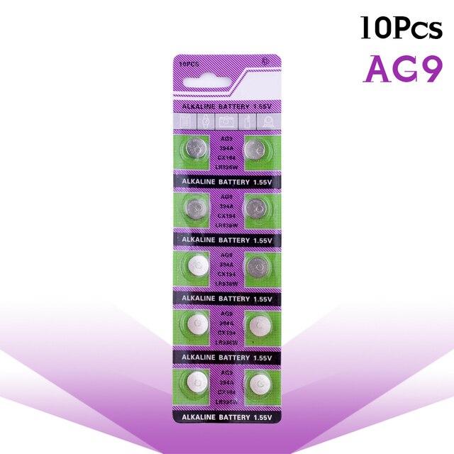 Ycdc 10 pçs de 1.55v bateria de relógio, botão alcalina, célula de bateria 194 394 524 394a d380 l936 lr936 rw33 s33 sg9 sp394 sr45 sr936 sr936sw