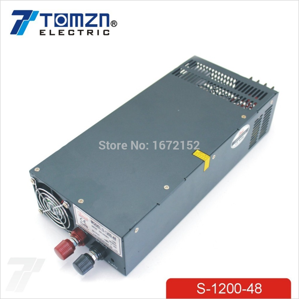 1200W 48V adjustable 220V input Single Output Switching power supply for LED Strip light AC to DC single output uninterruptible adjustable 24v 150w switching power supply unit 110v 240vac to dc smps for led strip light cnc