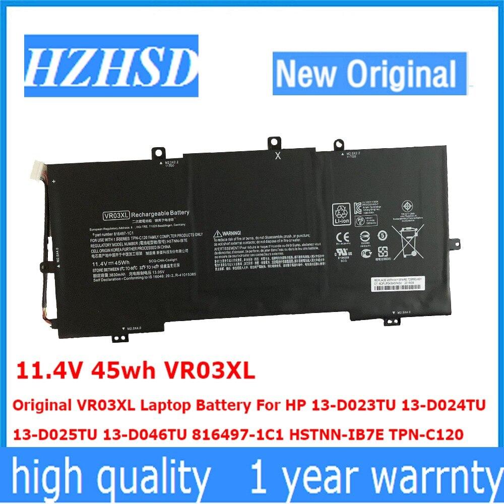 11.4 V 45wh VR03XL Dorigine VR03XL batterie dordinateur portable Pour HP 13-D023TU 13-D024TU 13-D025TU 13-D046TU 816497-1C1 HSTNN-IB7E TPN-C12011.4 V 45wh VR03XL Dorigine VR03XL batterie dordinateur portable Pour HP 13-D023TU 13-D024TU 13-D025TU 13-D046TU 816497-1C1 HSTNN-IB7E TPN-C120