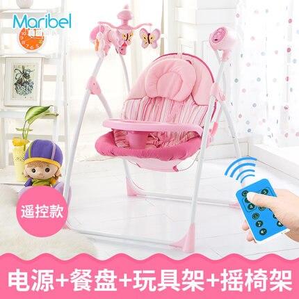 Bright Starts Schommelstoel Roze.Electric Cradle Bed Baby Comfort Swing Pink Baby Rocking Chair Coax