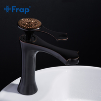 FRAP Vintage Bathroom Basin Faucet Copper Material Single Handle Bathroom Sink Basin Faucet Black Mixer Tap Deck Mounted Y10040