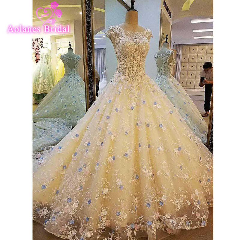 Gorgeous Sheer Ball Gown Wedding Dresses 2017 Puffy Beaded: Gorgeous Sheer Ball Gown Backless Wedding Dresses 2017 New