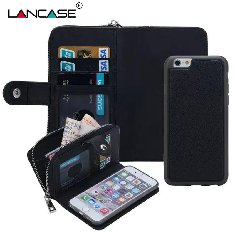LANCASE Θήκες πορτοφολιών για θήκη iPhone 7 - Ανταλλακτικά και αξεσουάρ κινητών τηλεφώνων - Φωτογραφία 2