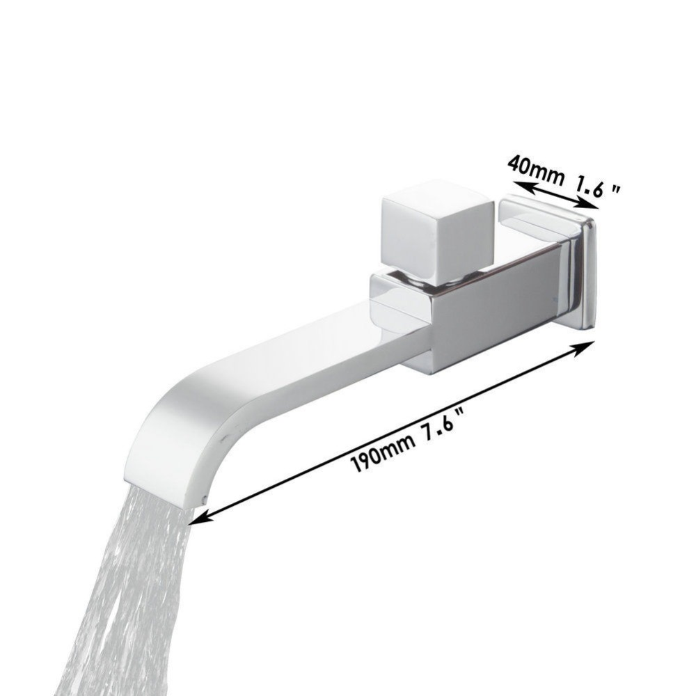 e-pak BEST Bathroom Tub Faucet Sink Basin Faucet 97087 torneira Chrome Single Cold Waterfall Tap Bath Shower Faucet