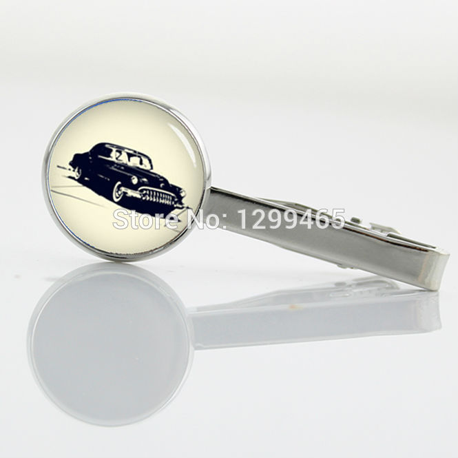 High Quality bubble car Tie Clips decoration male keepsake Tie Clip Mens Accessories Old Car art picture Tie tacks T 753
